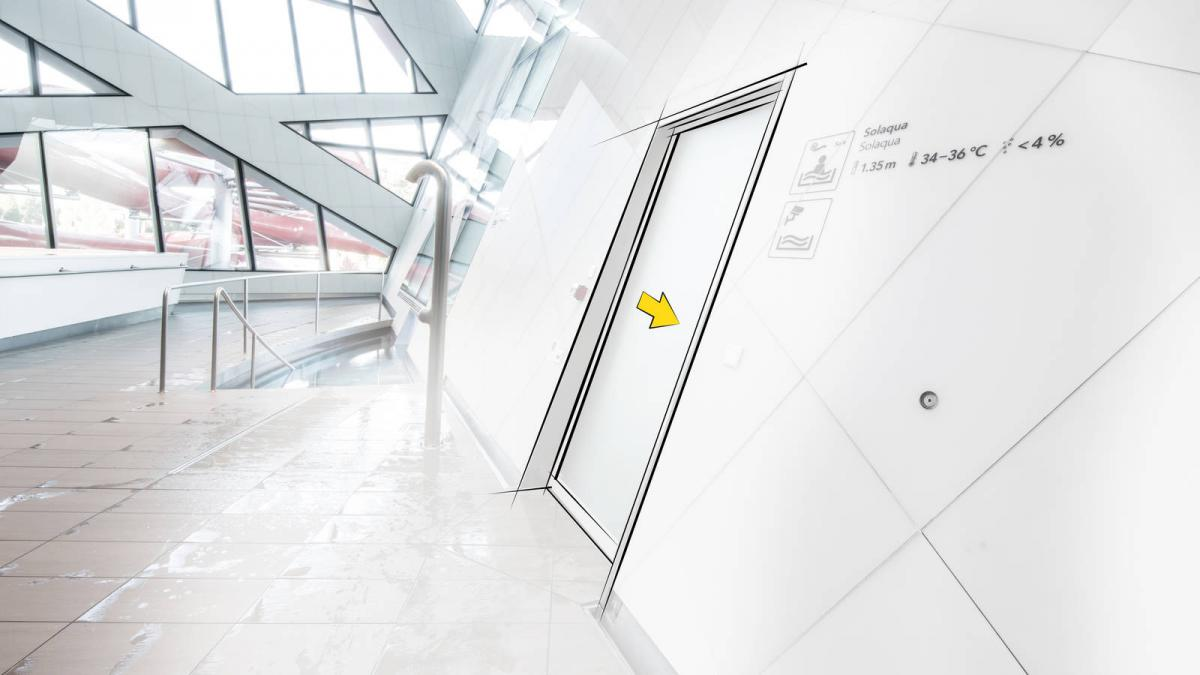 Pintu Otomatis Automatically Inclined